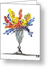 Flowers Clear Greeting Card