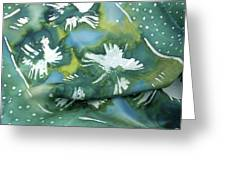 Flowers Floating On The Water Greeting Card by Joanna White