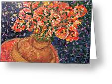 Flowers For Mary Greeting Card