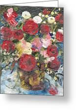 Flowers In A Basket Greeting Card by Nira Schwartz