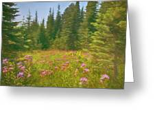 Flowers In A Mountain Glade Greeting Card