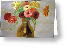 Flowers In A Pitcher -11 Yrs Old Greeting Card