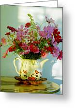 Flowers In A Teapot Greeting Card
