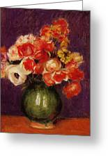 Flowers In A Vase 1901 Greeting Card