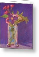 Flowers In A Vase After Manet Greeting Card