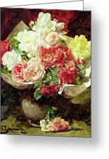 Flowers In A Vase Greeting Card