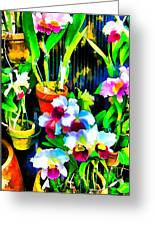 Flowers In Abstract 18 Greeting Card