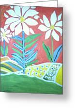 Flowers In Field Greeting Card