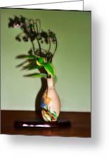 Flowers In Japanese Vase Greeting Card