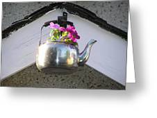 Flowers In Teapot Greeting Card by Richard Mitchell
