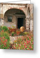 Flowers In The South Wing, Mission San Juan Capistrano, California Greeting Card