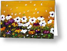 Flowers In The Sunset  Greeting Card