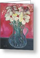 Flowers Inside Glass Pitcher Greeting Card