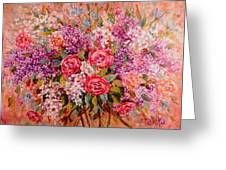 Flowers Of Romance Greeting Card