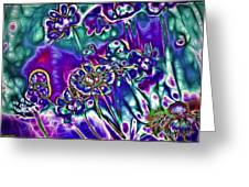Flowers Of The Distant Planet Greeting Card