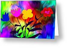 Flowers Of The I-magi-nation Greeting Card