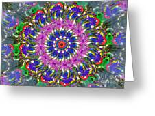 Flowers Of The Mind Number 2 Peacock Feathers Greeting Card
