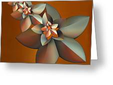 Flowers On Bronze Greeting Card