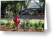 Flowers On Main Street Greeting Card