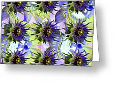 Flowers On The Wall Greeting Card by Betsy C Knapp