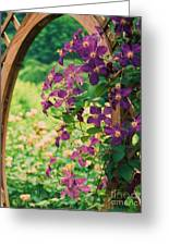 Flowers On Vine  Greeting Card
