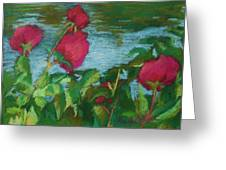Flowers On Water Greeting Card