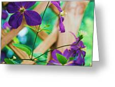 Flowers Purple Greeting Card