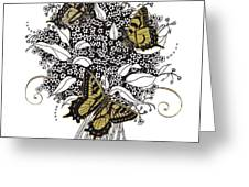 Flowers That Flutter Greeting Card