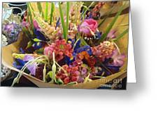 Flowers To Go Greeting Card
