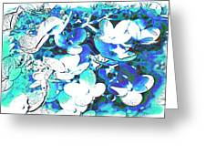 Flowers With A Difference Greeting Card by TinaDeFortunata