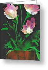 Flowerscape Glow Of Night Greeting Card