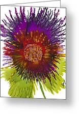 Flowerscape Thistle Greeting Card