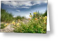 Flowery Dunes Greeting Card