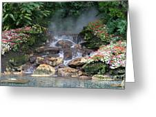 Flowery Falls At Disney Greeting Card