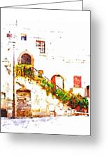Flowery Staircase Greeting Card
