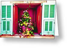 Flowery Window Greeting Card