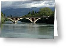 Flowing Bridge Greeting Card