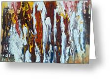 Flowing Colors Greeting Card