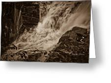 Flowing Force Greeting Card