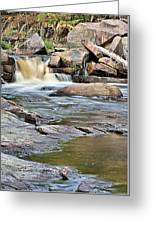 Flowing Over The Rocks Greeting Card