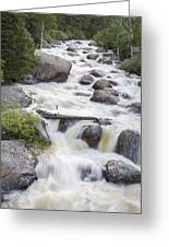 Flowing River #1 Greeting Card