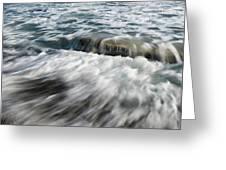 Flowing Sea Waves Greeting Card