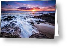 Flowing Sunset Greeting Card
