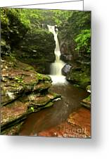 Flowing Toward The Red Rocks Greeting Card