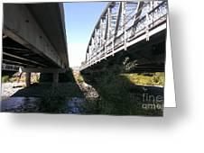 Flowing Under The Bridges Greeting Card