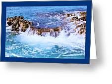 Flowing Water In The Cayman Islands # 4 Greeting Card