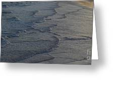 Flowing Waves  Greeting Card