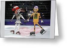 Floyd And Zoe's Skate Date Greeting Card
