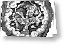 Fludds Primordial Fires, 1617 Greeting Card