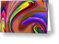 Fluid Colour Greeting Card
